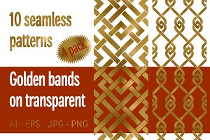 10 golden bands patterns Pack 4