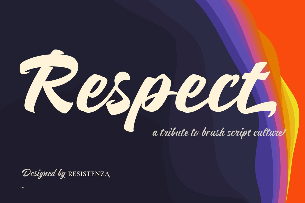 Respect in Script Fonts - product preview 8