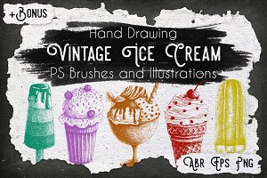 Vintage Ice Cream Ink Set