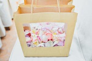 Rose Petals in a Paper Bag