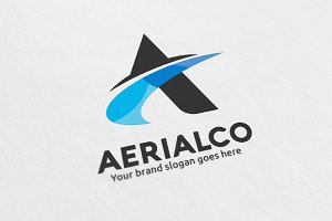 Aerial Letter A Logo