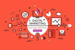 Digital Marketing hero banners
