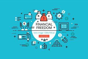 Financial Freedom hero banners