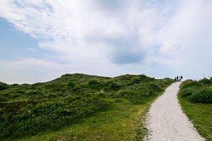 Path in dune landscape