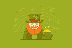 St. Patrick's Day design concept