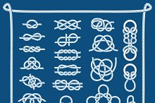 Rope knots vector illustration.
