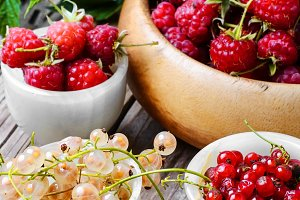 raspberry and currants