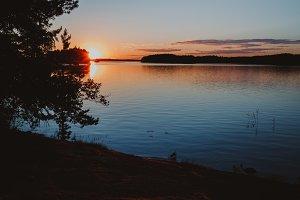 Beautiful sunset. Finland.