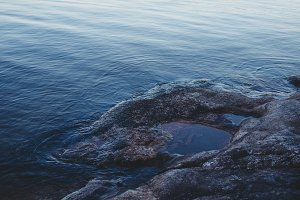 Rocky shore near the water