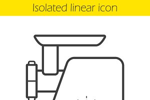Electric mincer linear icon. Vector