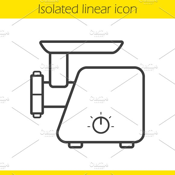 Electric mincer linear icon. Vector - Icons