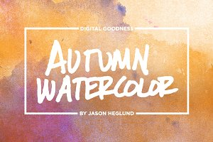 Autumn Watercolor Textures