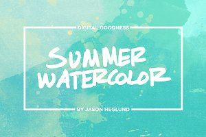Summer Watercolor Textures