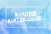 Winter Watercolor Textures