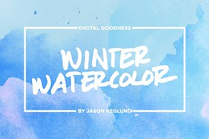 Winter Watercolor Textures