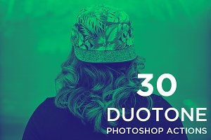 30 Duotone Action Set