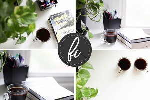 Books & Coffee - Stock Photos Bundle