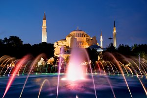 Hagia Sophia by Night in Istanbul