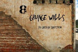 8 GRUNGE WALLS by Carolyn Sandstrom