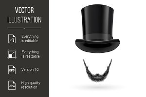 Invisible man in top hat