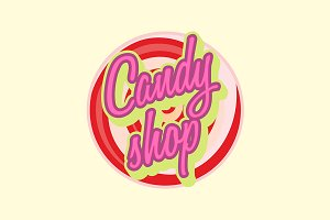 Sweet candy shop logo