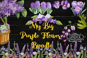 My Big Purple Flower Bundle