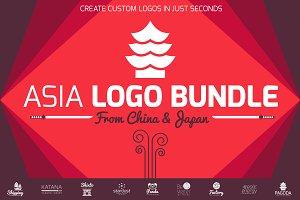 Asia Flat Logo Bundle
