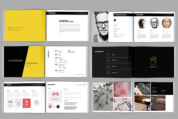 brochure pages template - modern portfolio booklet 36 pages brochure templates
