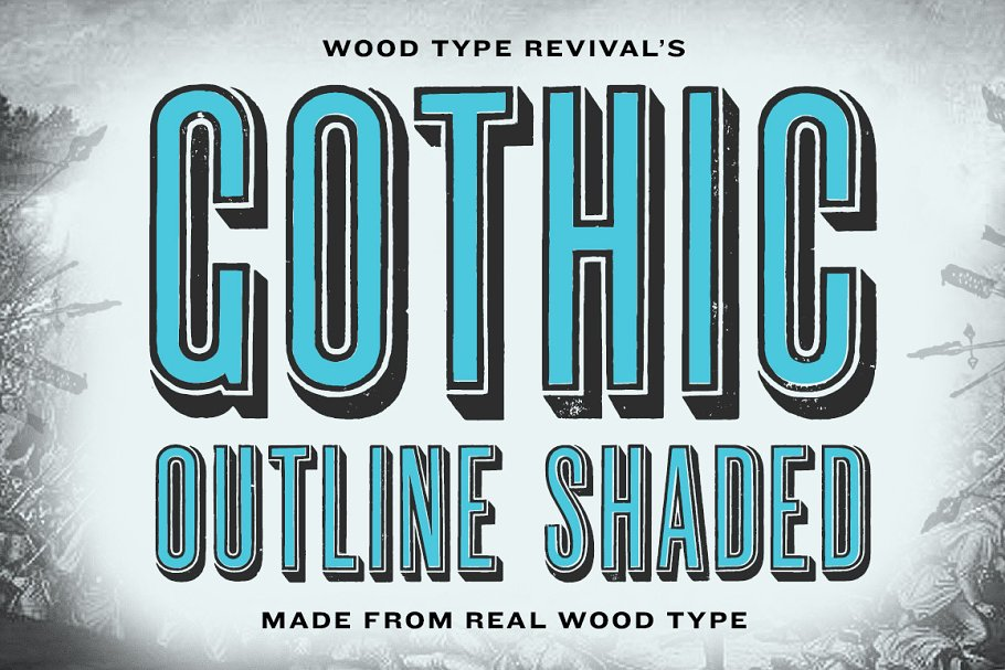 Gothic Outline Shaded ~ Display Fonts ~ Creative Market