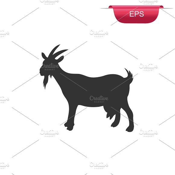 goat, farm animal, icon, vector