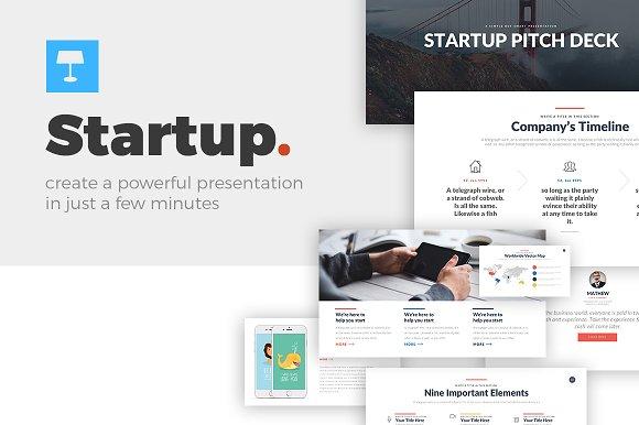 Startup Keynote Template Presentation Templates Creative Market - Timeline template keynote
