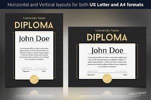 Dark Diploma Template