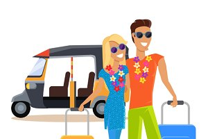 Couple Summer Vacation Travel