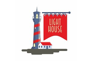 Lighthouse logo, sign or symbol