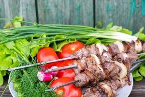 Shish kebab or shashlyk
