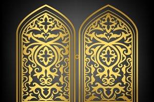 Vector islamic window