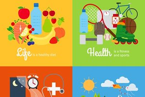 Healthy lifestyle elements