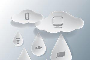 rainy cloud infographic