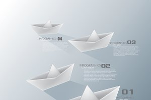 paper boat infographic