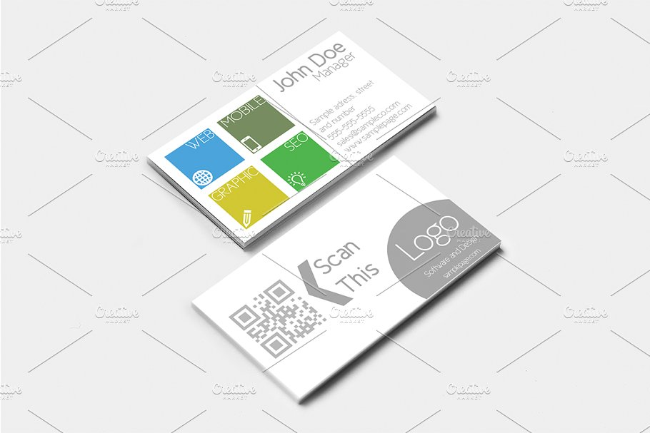 Clean sophisticated business card