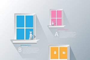 stairs to window infographic