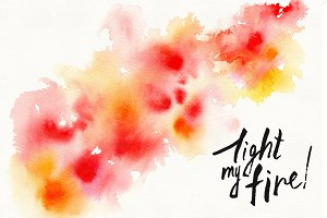 """watercolor stain """"light my fire"""""""