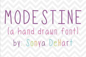 Modestine a Hand Drawn Font