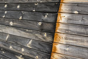 Wooden boards background.