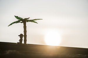 Figures of palm tree