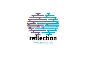 Abstract Reflection Logo