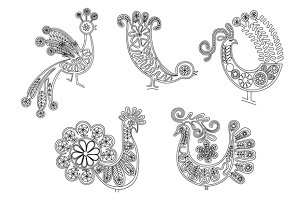 lace birds vector