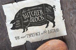 Butcher & Block Typeface + Extras