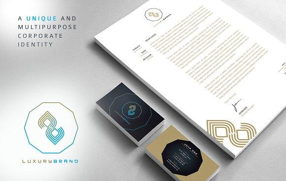 rw luxury unique corporate identity stationery templates