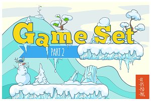 Winter Tile set for Platform Game